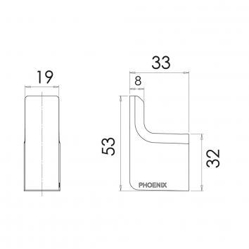 PHOENIX18530 GS897 Phoenix Tapware Robe Hook Accessories Spec sheet