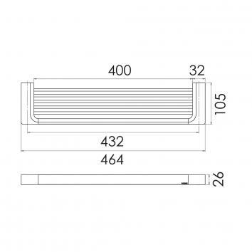 PHOENIX18535 GS896 Phoenix Tapware Shower Shelves Accessories Spec sheet