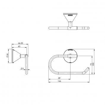 PHOENIX24000  YV892 CHR Phoenix Tapware Toilet Paper Holder Accessories Spec sheet