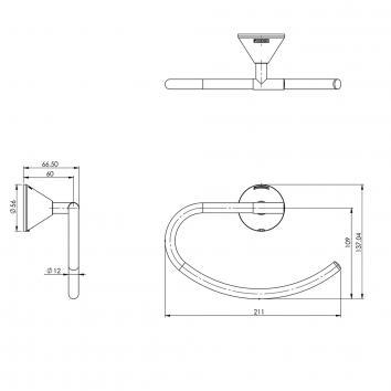 PHOENIX24025  YV893 CHR Phoenix Tapware Toilet Paper Holder Accessories Spec sheet
