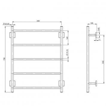 PHOENIX34110 RS870 CHR Phoenix Tapware Towel Ladder Accessories Spec sheet