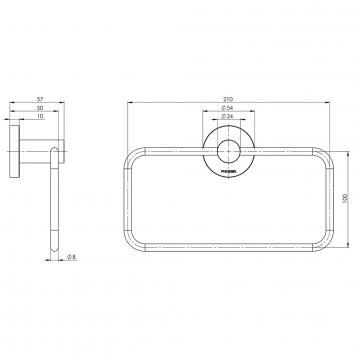 PHOENIX34140 RA893 CHR Phoenix Tapware Hand Towel Ring / Rail Accessories Spec sheet