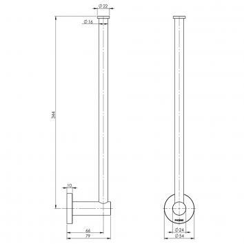 PHOENIX34240 RS898 CHR Phoenix Tapware Toilet Paper Holder Accessories Spec sheet