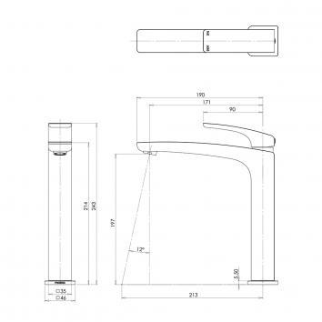 PHOENIX36000 RU730 CHR Phoenix Tapware  Tapware Spec sheet