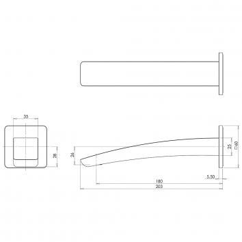 PHOENIX36085 RU774 CHR Phoenix Tapware Spouts  Spec sheet