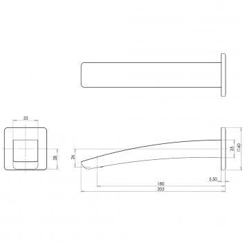PHOENIX36090 RU774 MB Phoenix Tapware Spouts  Spec sheet
