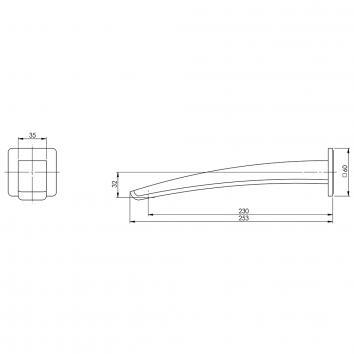 PHOENIX36110 RU777 CHR Phoenix Tapware Spouts  Spec sheet