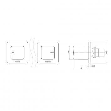 PHOENIX36135 RU067 CHR Phoenix Tapware Wall Top Assemblies Tapware Spec sheet
