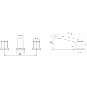 PHOENIX36175 RU100 CHR Phoenix Tapware 3 Piece Set Tapware Spec sheet