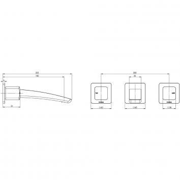 PHOENIX36185 RU110 CHR Phoenix Tapware 3 Piece Set Tapware Spec sheet