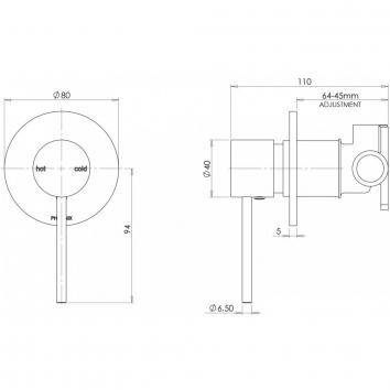 PHOENIX41585 VS780 CHR Phoenix Tapware Mixers Tapware Spec sheet