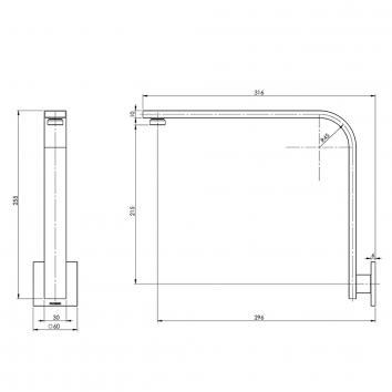 PHOENIX41820 VS6001-00 Phoenix Tapware Outlets Showers Spec sheet