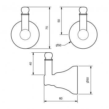 RAM9040 MRHCP Ram Tapware Robe Hook Accessories Spec sheet