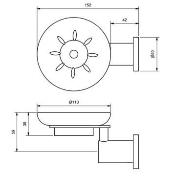 RAM9060 MSDCP Ram Tapware Soap Holder Accessories Spec sheet