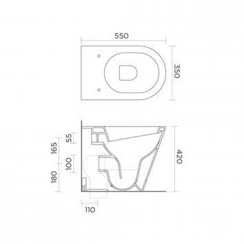 ROGERSEL10494 213419 Catalano Wall Faced Toilets Spec sheet