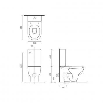 ROGERSEL10495 213429 Catalano Toilet Suites Toilets Spec sheet