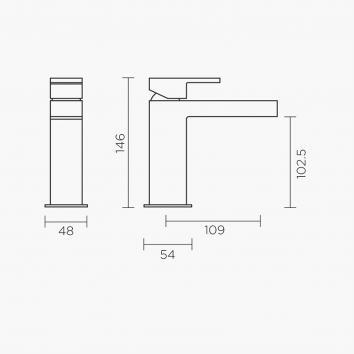ROGERSEL13650 329410 Fantini Mixers Tapware Spec sheet