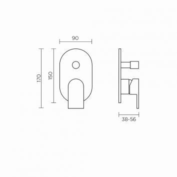 ROGERSEL13653 329416 Fantini Mixers Tapware Spec sheet