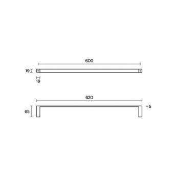 ROGERSEL14115 4031033 Rogerseller Single Towel Rail Accessories Spec sheet
