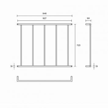 ROGERSEL14935 403172 Rogerseller Towel Ladder Accessories Spec sheet