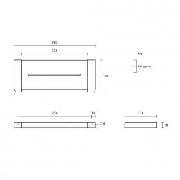 ROGERSEL15042 4355121 Rogerseller Shower Shelves Accessories Spec sheet
