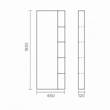 ROGERSEL16650 652264 Falper Bathroom Cabinets Furniture Spec sheet
