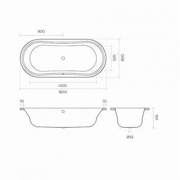 ROGERSEL2552 208104 Rogerseller Oval Baths Spec sheet