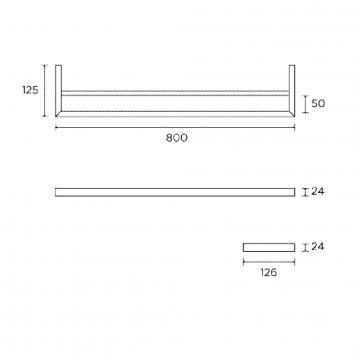 ROGERSEL51140 428168 Cosmic Double Towel Rail Accessories Spec sheet