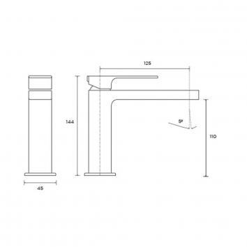 ROGERSEL54500 329602 Fantini Mixers Tapware Spec sheet