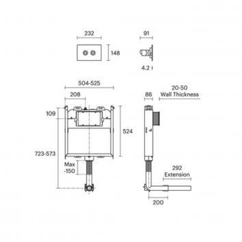 ROGERSEL60110 1603002 Rogerseller Cisterns / Inwall Toilets Spec sheet