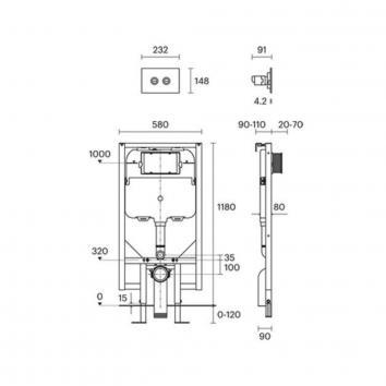 ROGERSEL60135 1604002 Rogerseller Cisterns / Inwall Toilets Spec sheet