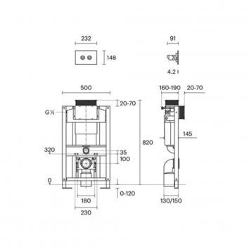 ROGERSEL60185 1606002 Rogerseller Cisterns / Inwall Toilets Spec sheet
