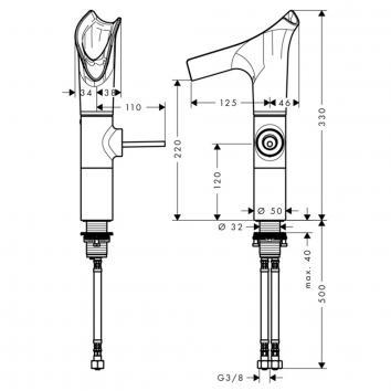 SKU000005 12114000 Hansgrohe Mixers Tapware Spec sheet