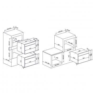 SMEG133306 SFA4130VCB Smeg Built-In Single Ovens Spec sheet