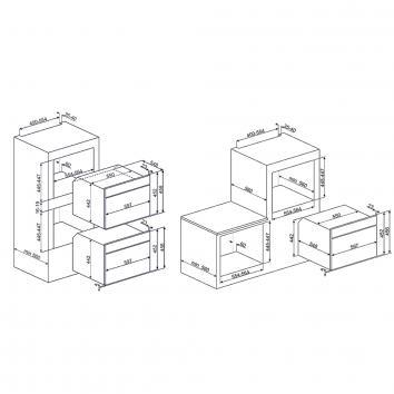 SMEG133309 SFA4140MCB Smeg Built-In Single Ovens Spec sheet