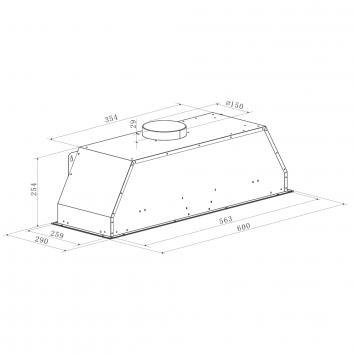 SMEG25300 PUM601X Smeg Undermount Rangehoods Spec sheet