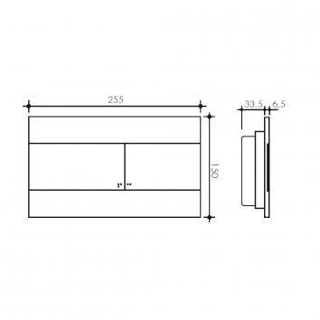 STUDIOBAGNO5210 OL0659055 Studio Bagno Flush Plates Toilets Spec sheet