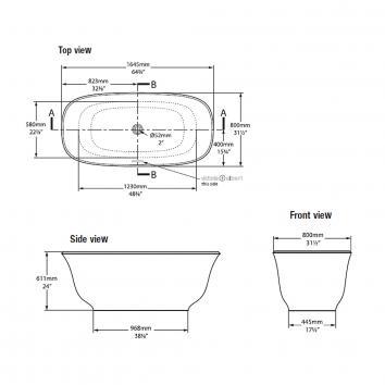 VICTORIA0023/VICTORIA18003 AMT-N-SW Victoria + Albert Freestanding Baths Spec sheet