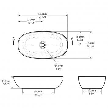 VICTORIA0262  VB-BAR-55 Victoria + Albert Above Counter / Vessel Basins Spec sheet