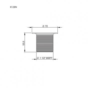 VICTORIA2045 K12BN Victoria + Albert Plug & Waste Plugs & Wastes Spec sheet