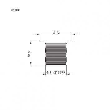 VICTORIA2046 K12PN Victoria + Albert Plug & Waste Plugs & Wastes Spec sheet