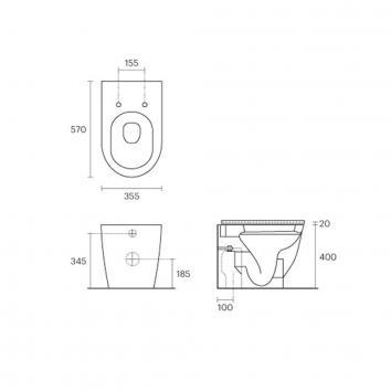 VITRA10105 112240 Vitra Back to Wall Toilets Spec sheet