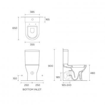 VITRA55050 117114 Vitra Toilet Suites Toilets Spec sheet