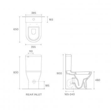 VITRA55055 117116 Vitra Toilet Suites Toilets Spec sheet