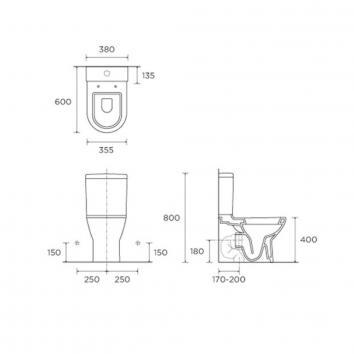 VITRA55060 117118 Vitra Toilet Suites Toilets Spec sheet