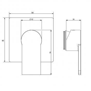 V&B80525 TVS10320XB Villeroy & Boch Mixers Tapware Spec sheet