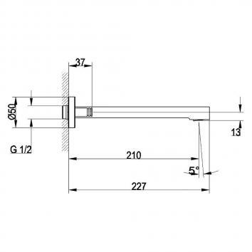 V&B80540 TVT10350061B Villeroy & Boch Outlets Tapware Spec sheet