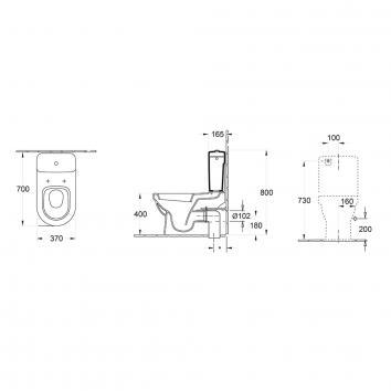 V&B1941 54831001SCBECB Villeroy & Boch Back to Wall Toilets Spec sheet