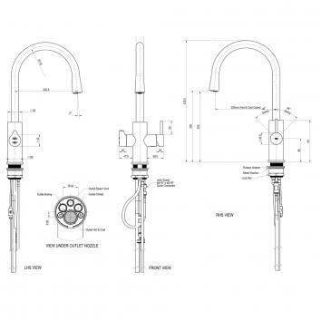 ZIP20670 MT2790 Zip  Hot and Cold Water Dispensers Spec sheet