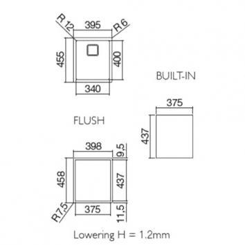 ABEY10950 AFS340 Abey Single Bowl Sinks Spec sheet